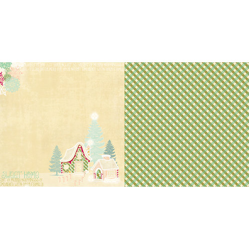 Websters Pages - Sweet Season Collection - Christmas - 12 x 12 Double Sided Paper - Sweet Home