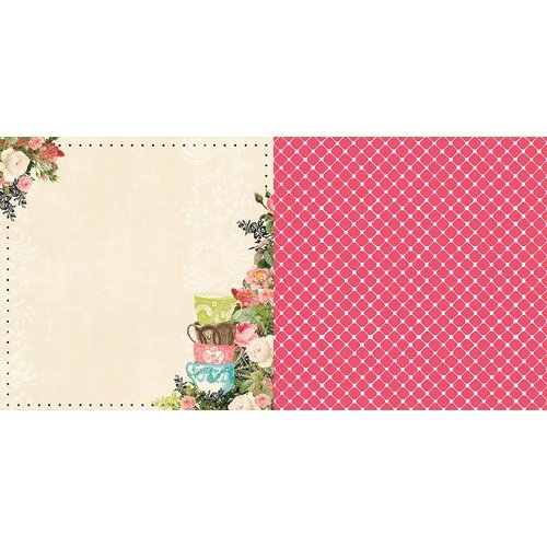 Websters Pages - Ladies and Gents Collection - 12 x 12 Double Sided Paper - Tea Time