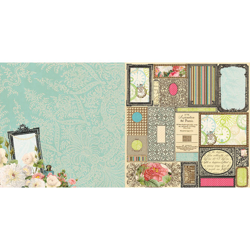 Websters Pages - Ladies and Gents Collection - 12 x 12 Double Sided Paper - Framed Beauty