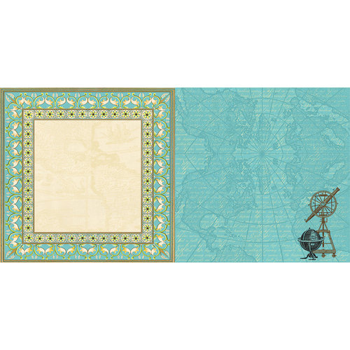 Websters Pages - Ladies and Gents Collection - 12 x 12 Double Sided Paper - Groomed Traveler
