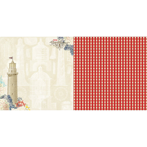 Websters Pages - Yacht Club Collection - 12 x 12 Double Sided Paper - Sailor's Guide