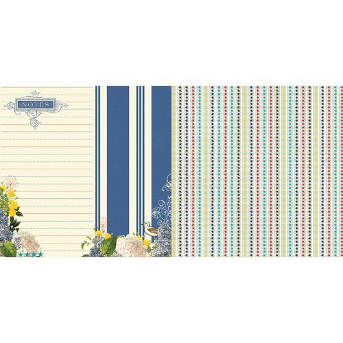Websters Pages - Yacht Club Collection - 12 x 12 Double Sided Paper - Captain's Notes