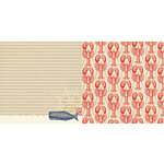 Websters Pages - Yacht Club Collection - 12 x 12 Double Sided Paper - Whale Watching