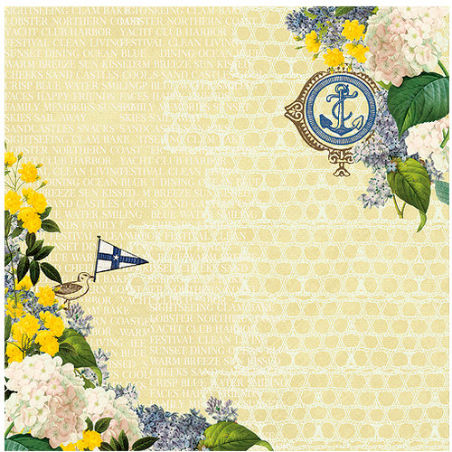 Websters Pages - Yacht Club Collection - 12 x 12 Designer Vellum - Yacht Club