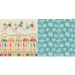 Websters Pages - Trendsetter Collection - 12 x 12 Double Sided Paper - District 45