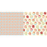 Websters Pages - Let's Celebrate Collection - 12 x 12 Double Sided Paper - Sweets and Treats