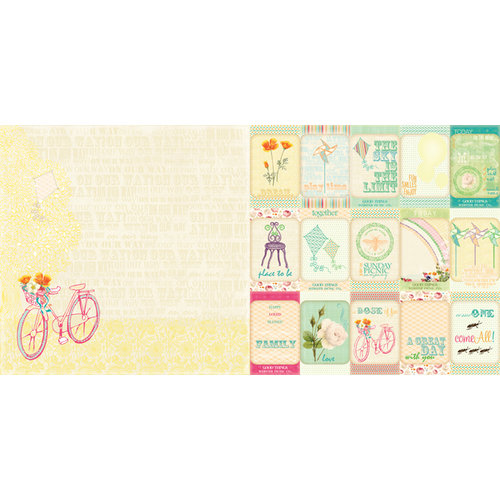 Websters Pages - Sunday Picnic Collection - 12 x 12 Double Sided Paper - Joy Ride