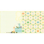 Websters Pages - Sunday Picnic Collection - 12 x 12 Double Sided Paper - Picnic Basket