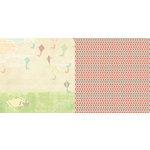 Websters Pages - Sunday Picnic Collection - 12 x 12 Double Sided Paper - Fly a Kite