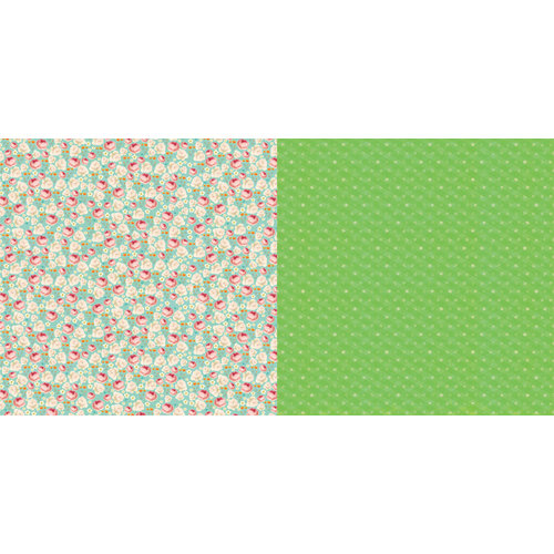 Websters Pages - Sunday Picnic Collection - 12 x 12 Double Sided Paper - Poppy Fields