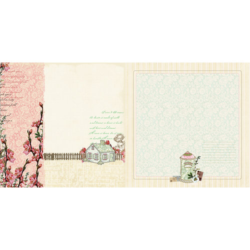 Websters Pages - Everyday Poetry Collection - 12 x 12 Double Sided Paper - Love and Dreams