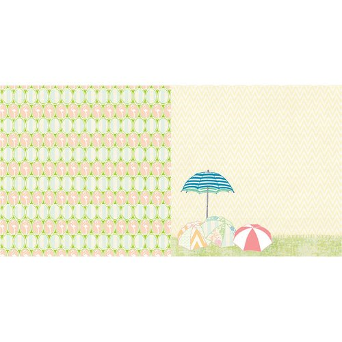 Websters Pages - The Palm Beach Collection - 12 x 12 Double Sided Paper - Flamingo Fun