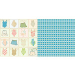 Websters Pages - The Palm Beach Collection - 12 x 12 Double Sided Paper - Skinny Dipping