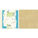 Websters Pages - The Palm Beach Collection - 12 x 12 Double Sided Paper - Great Travels