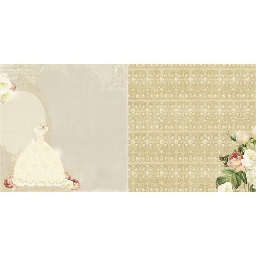 Websters Pages - In Love Collection - 12 x 12 Double Sided Paper - The Dress