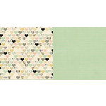 Websters Pages - In Love Collection - 12 x 12 Double Sided Paper - Heartbeats