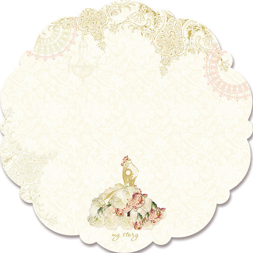 Websters Pages - In Love Collection - 12 x 12 Die Cut Paper - In Love