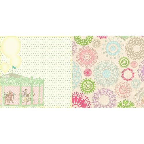 Websters Pages - Girl Land Collection - 12 x 12 Double Sided Paper - Carefree