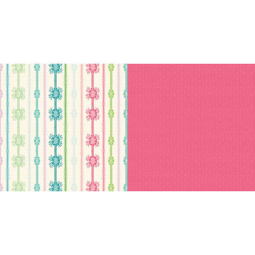 Websters Pages - Girl Land Collection - 12 x 12 Double Sided Paper - Shopping Spree