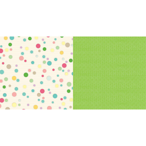 Websters Pages - Girl Land Collection - 12 x 12 Double Sided Paper - Bubbly