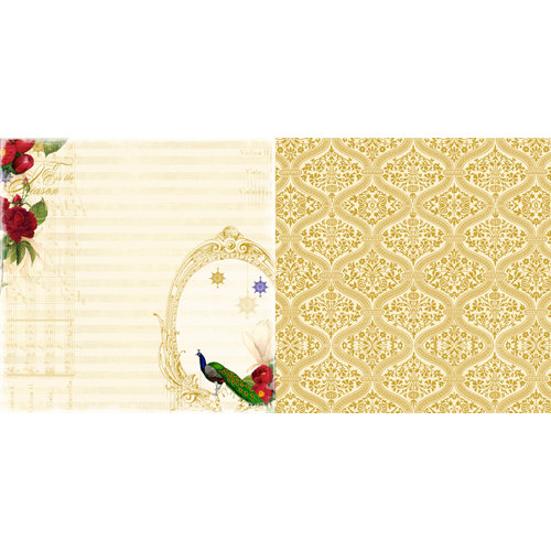 Websters Pages - Royal Christmas Collection - 12 x 12 Double Sided Paper - Tis The Season