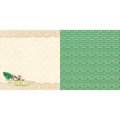 Websters Pages - Royal Christmas Collection - 12 x 12 Double Sided Paper - Ride Home
