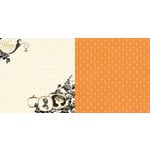 Websters Pages - Once Upon a Halloween Collection - 12 x 12 Double Sided Paper - Pumpkin Carving