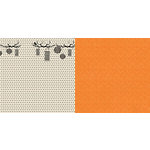 Websters Pages - Once Upon a Halloween Collection - 12 x 12 Double Sided Paper - Lantern Light