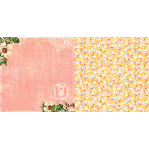 Websters Pages - Park Drive Collection - 12 x 12 Double Sided Paper - Margaret