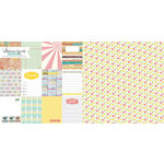 Websters Pages - Composition and Color Collection - 12 x 12 Double Sided Paper - Notes