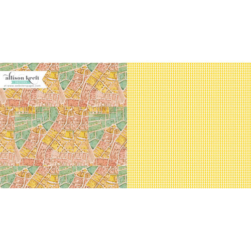 Websters Pages - Composition and Color Collection - 12 x 12 Double Sided Paper - Master Plan