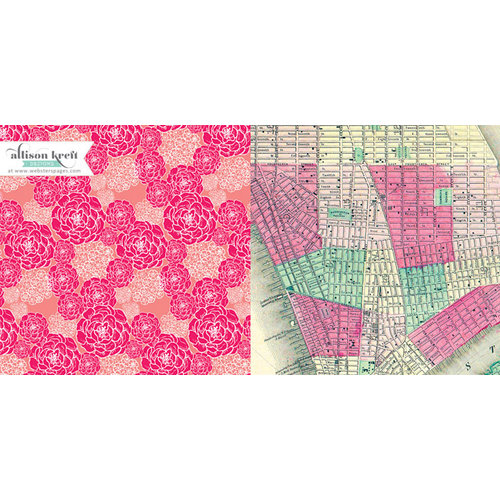 Webster's Pages - Composition and Color Collection - 12 x 12 Double Sided Paper - Aerial View