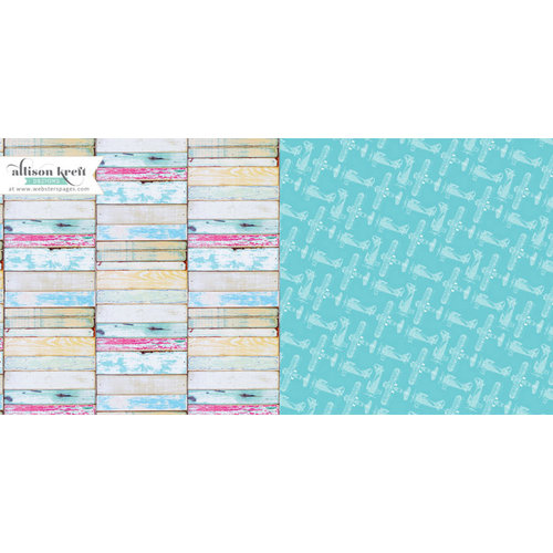 Websters Pages - Composition and Color Collection - 12 x 12 Double Sided Paper - Weathered