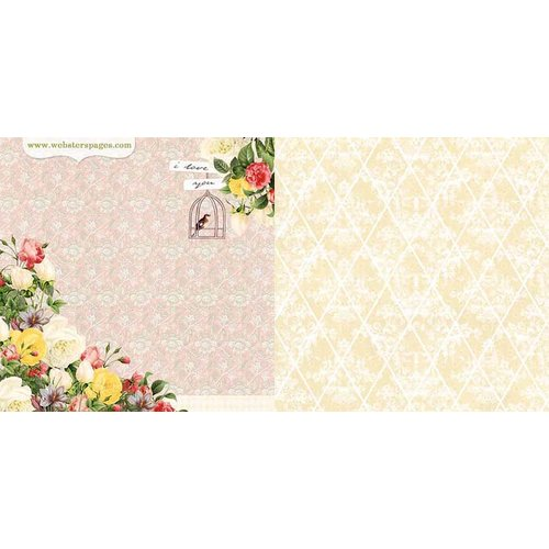 Websters Pages - Modern Romance Collection - 12 x 12 Double Sided Paper - Everlasting Love