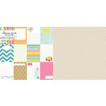Websters Pages - Sweet Notes Collection - 12 x 12 Double Sided Paper - Noteworthy