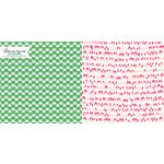 Websters Pages - Sweet Notes Collection - 12 x 12 Double Sided Paper - Flower Melody
