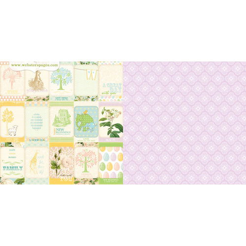 Websters Pages - New Beginnings Collection - 12 x 12 Double Sided Paper - Milestones