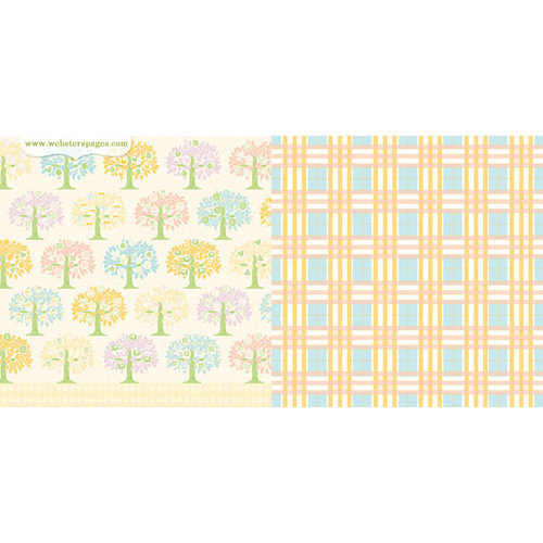 Websters Pages - New Beginnings Collection - 12 x 12 Double Sided Paper - Family Tree