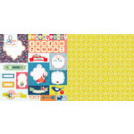 Websters Pages - Adrienne Looman - Citrus Squeeze Collection - 12 x 12 Double Sided Paper - Countdown to Summer