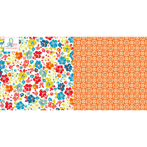 Websters Pages - Adrienne Looman - Citrus Squeeze Collection - 12 x 12 Double Sided Paper - Tropical Delight