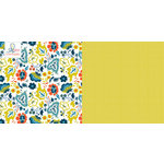 Websters Pages - Adrienne Looman - Citrus Squeeze Collection - 12 x 12 Double Sided Paper - Lemon Zest