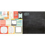 Websters Pages - Our Travels Collection - 12 x 12 Double Sided Paper - The Big Adventure
