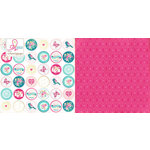 Websters Pages - Sweet Routine Collection - 12 x 12 Double Sided Paper - Peace and Friendship