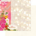 Websters Pages - Strawberry Fields Collection - 12 x 12 Double Sided Paper - Our Memories