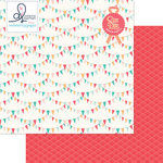 Websters Pages - Ocean Melody Collection - 12 x 12 Double Sided Paper - Clambake