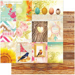 Websters Pages - Nest Collection - 12 x 12 Double Sided Paper - Home with You