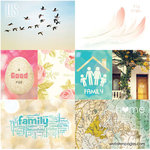 Websters Pages - Nest Collection - 12 x 12 Double Sided Paper - Storyteller Card Sheet I