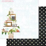 Websters Pages - All That Glitters Collection - Christmas - 12 x 12 Double Sided Paper - Trimmings