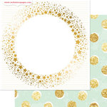 Websters Pages - All That Glitters Collection - Christmas - 12 x 12 Double Sided Paper - Shimmer
