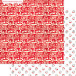 Websters Pages - All That Glitters Collection - Christmas - 12 x 12 Double Sided Paper - Party Gathering